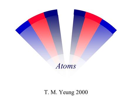 Atoms T. M. Yeung 2000 w What is the particle that made up an element?