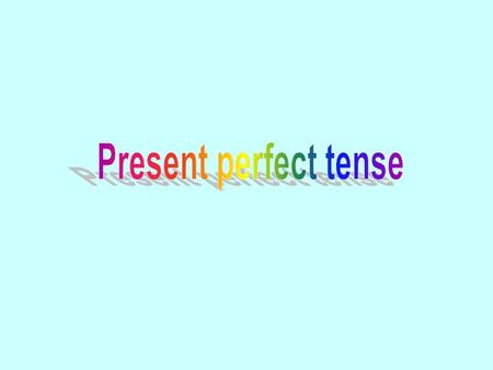 We use the present perfect tense to talk about things that happened at some time in the past and have a connection to the present. He has lived in Sha.
