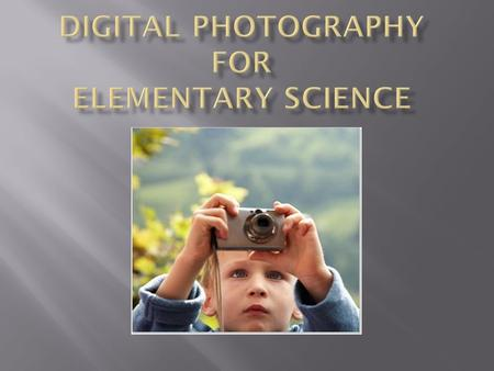  We have all heard that a picture says a thousand words; however if students are not taught the language <strong>of</strong> photography I believe they will not understand.