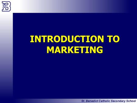 INTRODUCTION TO MARKETING. BMI3C Unit 1 Slide 2 Introduction to Marketing BRAINSTORM What do you think of when you hear the word MARKETING?