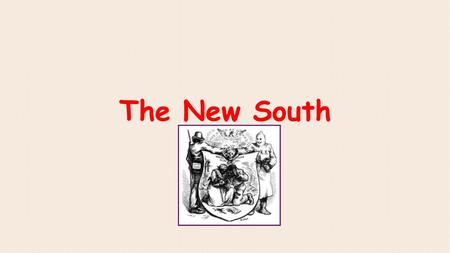 The New South. In the South, the period following the Civil War or Reconstruction, was a time for rebuilding homes, towns, businesses, farms, government,