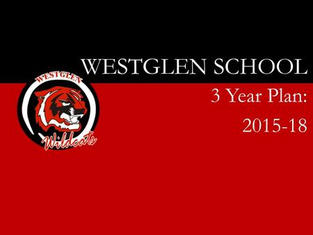 WESTGLEN SCHOOL 3 Year Plan: 2015-18. Our purpose… Westglen School will engage every student in meaningful learning by challenging, encouraging and believing.