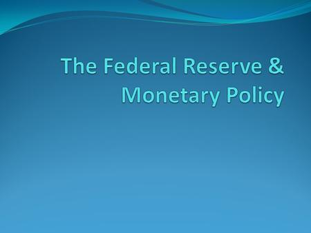 The Fed The Federal Reserve System consists of 12 Federal Reserve Banks, one in each of the Federal Reserve Districts into which the United States is.