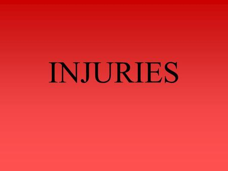 INJURIES. Blunt Force Injury Wound produced by blunt impact tears, shears and crushes Falls or blows with a blunt instrument (hammer, bat, brick, fist,