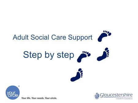 Adult Social Care Support Step by step. Joan's story Joan needs some extra support She may ask for support from friends, family members or her neighbour,