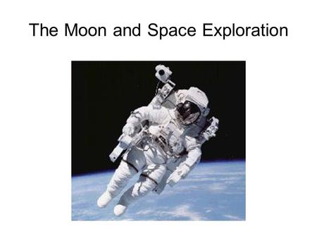 The Moon and Space Exploration. Moon Facts The moon rotates on its axis at the same rate that it revolves around Earth. Therefore, the same side of the.