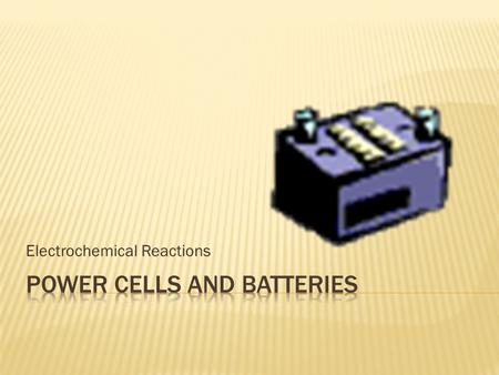 Electrochemical Reactions. Anode: Electrons are lost due to oxidation. (negative electrode) Cathode: Electrons are gained due to reduction. (positive.