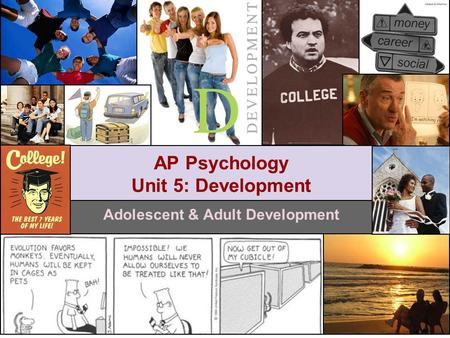 Adolescent & Adult Development AP Psychology Unit 5: Development.