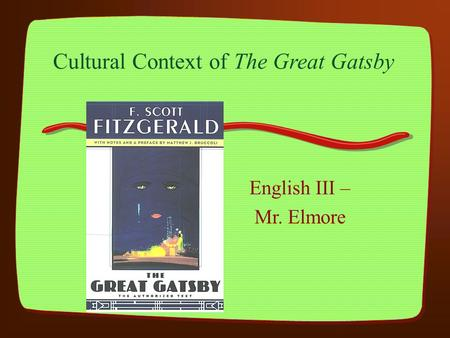 Honors english 3 the great gatsby