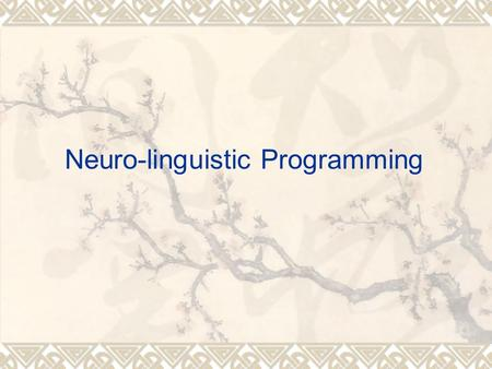 Neuro-linguistic Programming.  You either have the talent or not have the talent for a skill. Is this true?  Motion analysis and optimal simulation.