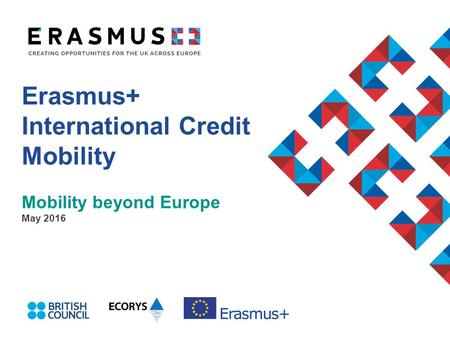 Erasmus+ International Credit Mobility Mobility beyond Europe May 2016.