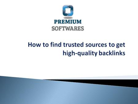 How to get backlinks of high quality ?  Let's begin by understanding what backlinks are?  Backlinks refer to the incoming links excluding ads that.