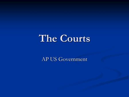 The Courts AP US Government. Some Basic Legal Terms Litigant – Someone involved in a lawsuit. This includes both plaintiff (one bringing the charge) and.
