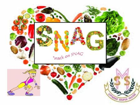 School Nutritional Action Group Promote healthy eating and healthy lifestyles for all pupils and staff in St Mary's. What is S.N.A.G?