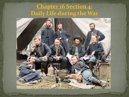 Chapter 16 Section 4: Daily Life during the War. Emancipation Proclamation: At the heart of the nation's bloody struggle were millions of ____ African.