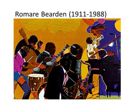 Romare Bearden (1911-1988). Bearden was always concerned with the underlying geometry of his compositions.
