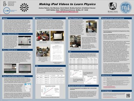 POSTER TEMPLATE BY: www.PosterPresentations.com Our data suggest no correlation between the use of <strong>iPad</strong> technology and conceptual learning outcomes in.