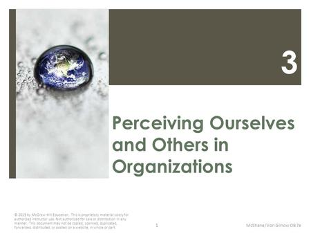 Perceiving Ourselves and Others in Organizations