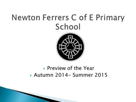  Preview of the Year  Autumn 2014- Summer 2015.