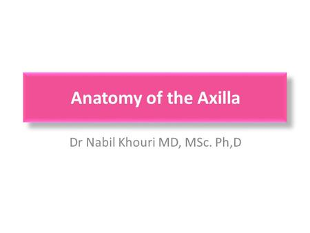 Dr Nabil Khouri MD, MSc. Ph,D