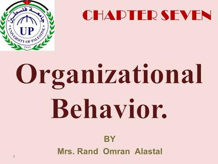 BY Mrs. Rand Omran Alastal 0. Kelli J. Schutte William Jewell College Robbins & Judge Organizational Behavior 14th Edition Motivation Concepts 1.