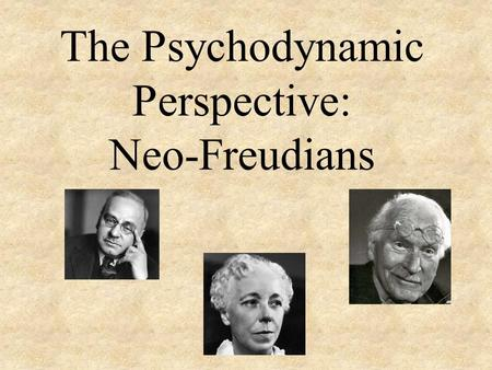 The Psychodynamic Perspective: Neo-Freudians. Psychodynamic Perspective A more modern view of personality that retains some aspects of Freudian theory.