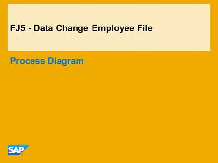 FJ5 - Data Change Employee File Process Diagram. ©2014 SAP AG. All rights reserved.2 FJ5 - Data Change Employee File SuccessFactors EC HR ManagerHR Administrator.