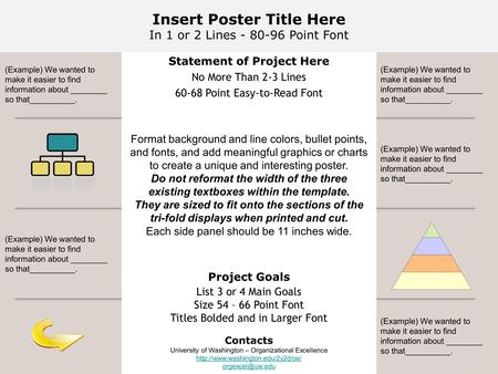 Insert Poster Title Here In 1 or 2 Lines - 80-96 Point Font Statement of Project Here No More Than 2-3 Lines 60-68 Point Easy-to-Read Font Format background.