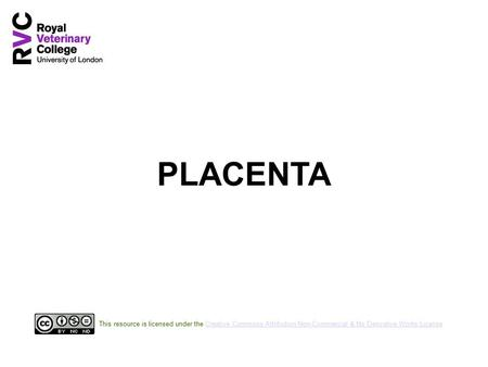 PLACENTA This resource is licensed under the Creative Commons Attribution Non-Commercial & No Derivative Works License.