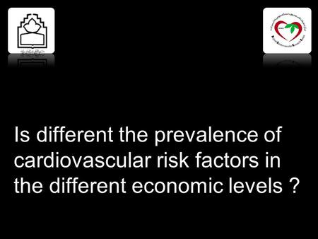 Is different the prevalence of cardiovascular risk factors in the different economic levels ?