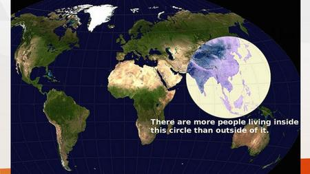 1.38 billion Over 1 billion people live on only 1/3 of the land area.