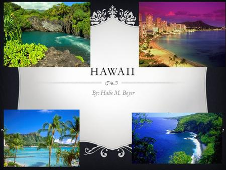 HAWAII By: Halie M. Boyer. SYMBOLS  State Bird  State Flower  State Tree  State flag  State Seal.
