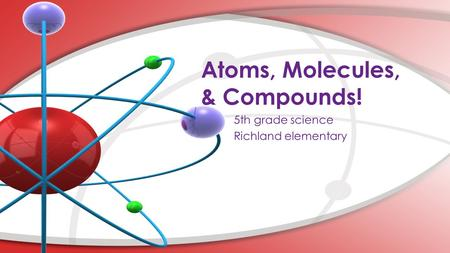 Atoms, Molecules, & Compounds!. STATES OF MATTER SOLID Can't change its shape Can't change its size LIQUID Can change its shape Can't change its size.
