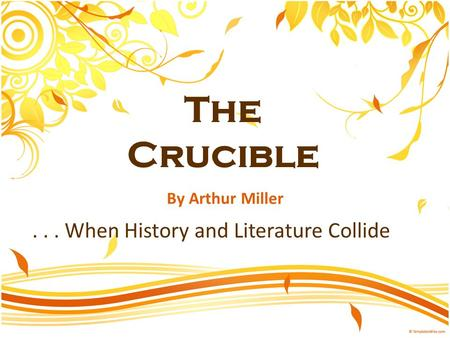 puritan ethics in arthur millers the crucible Arthur miller biography critical essays arthur miller's narrative technique in the crucible historical period: puritans in salem study help quiz full glossary for the crucible essay.
