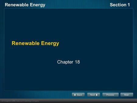 chapter 8 renewable energy part 1