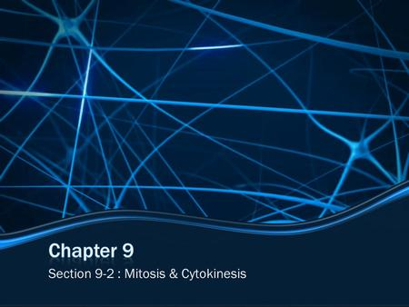 Section 9-2 : Mitosis & Cytokinesis. Essential Questions What are the events of each stage of mitosis? What is the process of cytokinesis?