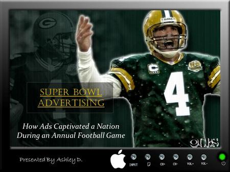Super Bowl Advertising How Ads Captivated a Nation During an Annual Football Game Presented By Ashley D.