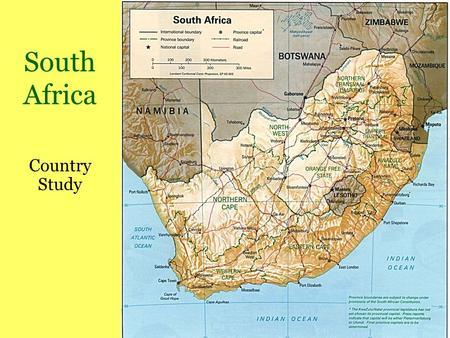 South Africa Country Study. Who lives there today? 40 million people Afrikaners = whites who are descendants of original Dutch settlers (speak Afrikaans.