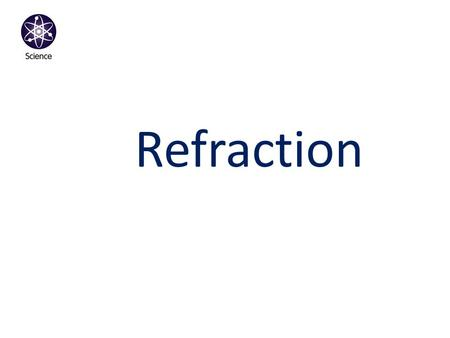 Refraction. Reflection When light reflects from smooth surface you can see an image. The image: - is _______ the object. (smaller than, the same size.