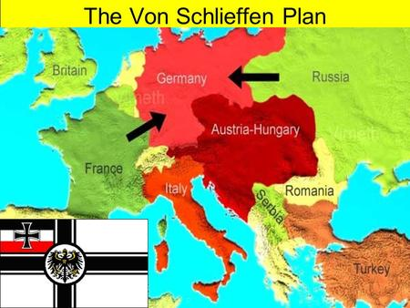 The Von Schlieffen Plan. Germany's problem was that during war it would be attacked from both the East and West.