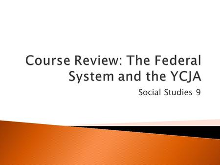 Social Studies 9.  Unit 1 focuses on the structure of the Canadian federal government. This includes: ◦ The separation and division of powers within.
