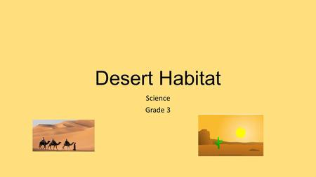 Desert Habitat Science Grade 3. LO: to describe the desert habitat.