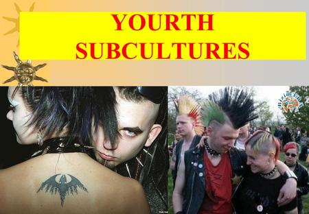 YOURTH SUBCULTURES THE DEFINITION OF A SUBCULTURE A subculture is a group of people with the same interests, the same style and the same music. the same.