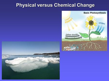 Physical versus Chemical Change. Physical Properties.