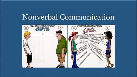 Nonverbal Communication. Take Away Points From the reading: Visual, auditory, and invisible communication system – know the definitions of these terms.