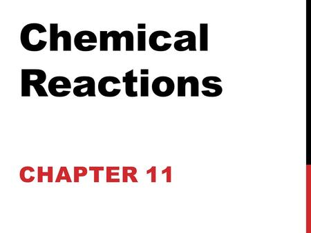 Chemical Reactions CHAPTER 11. WHAT ARE OUR REPRESENTATIVE, OR BASIC PARTICLES? They are the smallest pieces of a substance. For a molecular compound: