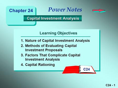 Capital Budgeting And Investment Analysis - Ppt Download