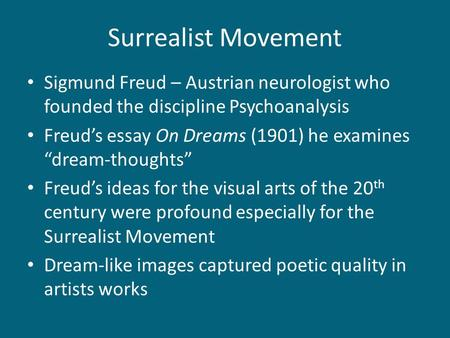 freud surrealism essay