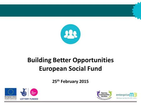 Building Better Opportunities European Social Fund 25 th February 2015.