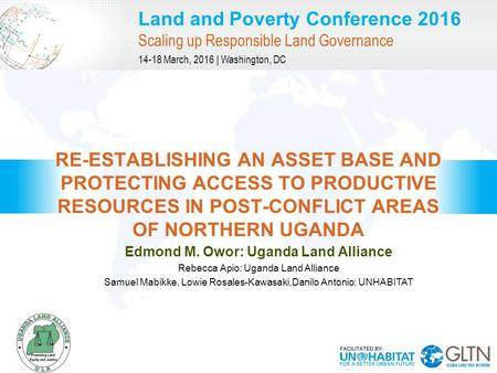 """land question in uganda One thought on """"land conflicts in uganda particularly northern uganda case study amuru district."""